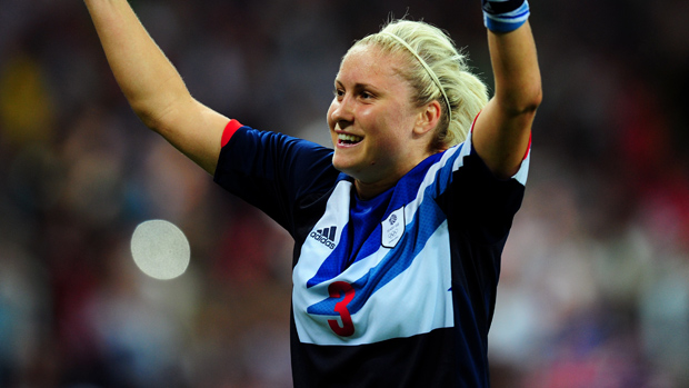 Steph Houghton is not known for her scoring but she buried one on the weekend in Manchester City's FA Cup win. (Photo Courtesy: thefa.com)