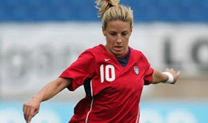 Former U.S. Women's National Team midfielder Aly Wagner.