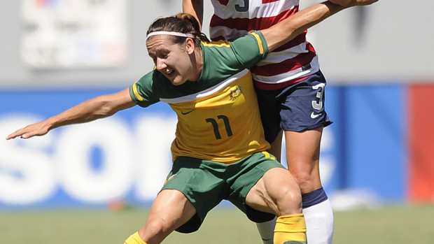 Lisa De Vanna opened the scoring in Australia's big win over Japan. (Photo Copyright Patricia Giobetti for The Equalizer)