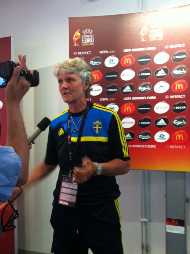 Pia Sundhage (Photo Copyright Harjeet Johal for The Equalizer)