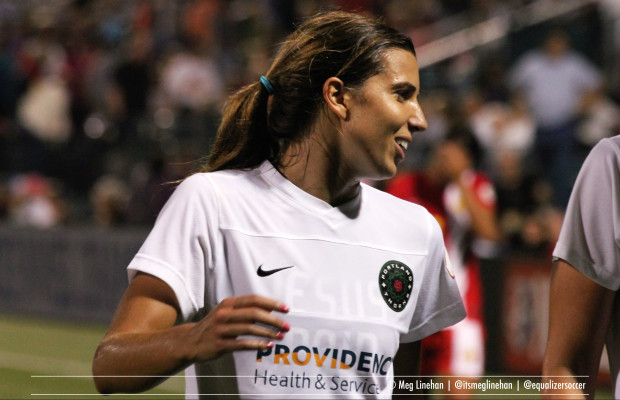 Tobin Heath and the Thorns outlasted the Flash is an entertaining, nationally televised match and will host a semifinal for the first time. (Photo Copyright Meg Linehan for The Equalizer)