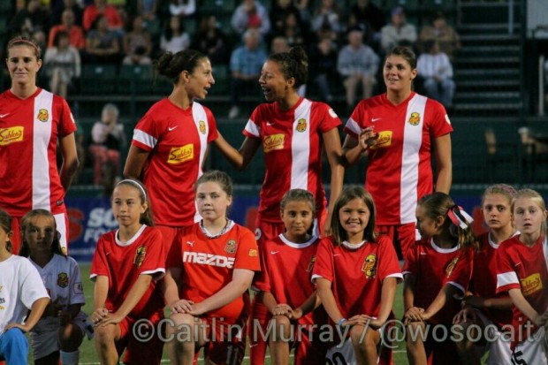 The Western New York Flash will play their July 9 match at Frontier Field. (Photo Copyright Caitlin Murray)
