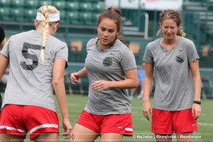 Portland Thorns re-signed Mana Shim (pictured) and Emily Menges for the 2017 season. (Photo copyright Meg Linehan for The Equalizer)