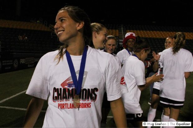Tobin Heath and the Thorns are looking for their second NWSL Championship. Heath also gets Dan Lauletta's 2016 MVP vote. (Photo Copyright Meg Linehan for The Equalizer)