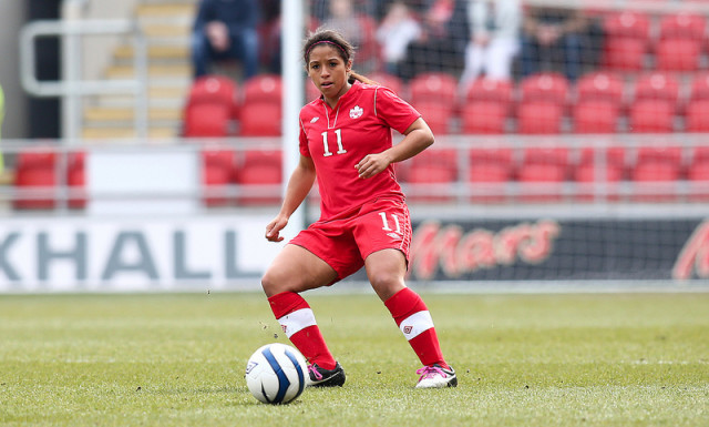Desiree Scott has signed with Notts County of England's FAWSL. (Photo Copyright Canada Soccer)