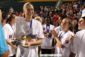 Inaugural National Women's Soccer League champions Portland Thorns FC celebrate. (Photo Copyright Meg Linehan for The Equalizer)