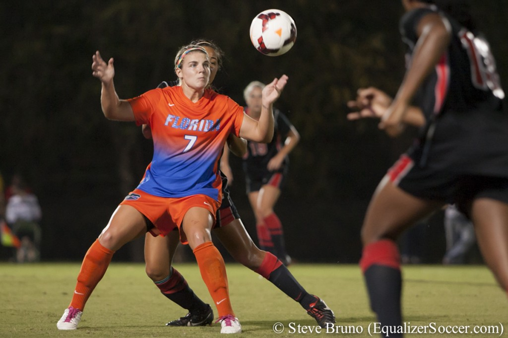 Florida's Savannah Jordan is an All-American for third straight year. (Copyright: Steve Bruno for The Equalizer)