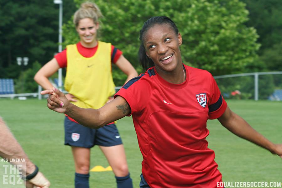 Cyrstal Dunn will train with the U.S. women's national team as Tobin Heath deals with a hamstring injury. (Photo copyright Meg Linehan for The Equalizer.)