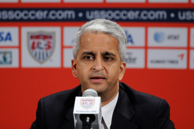 U.S. Soccer President Sunil Gulati is trying to negotiate a new collective bargaining agreement with the women's national team.