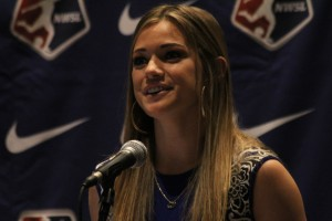 """No. 2 overall pick Kealia Ohai says cooling breaks in the NWSL are """"unnecessary."""" (Photo by Meg Linehan for The Equalizer)"""