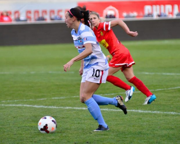 After three solid years i the Red Stars midfield, it's time for Vanessa DiBernardo to get a fari shake at the USWNT (Photo Courtesy Chicago Red Stars)