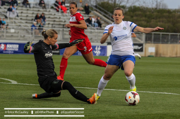 If Amy Rodriguez can continue to baffle opposing goalkeepers after a season off, FC Kansas City could be back near the top of the table. (Photo Copyright Erica McCaulley for The Equalizer)
