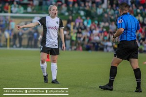 Kim Little scored twice to bring her total to 14, a new NWSL single-season record. (Photo Copyright Erica McCaulley for The Equalizer)