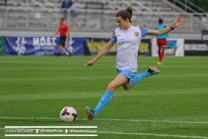 Kelley O'Hara's 50th minute goal gave Sky Blue a 1-0 win over the fading Flash . (Photo Copyright Erica McCaulley for The Equalizer)