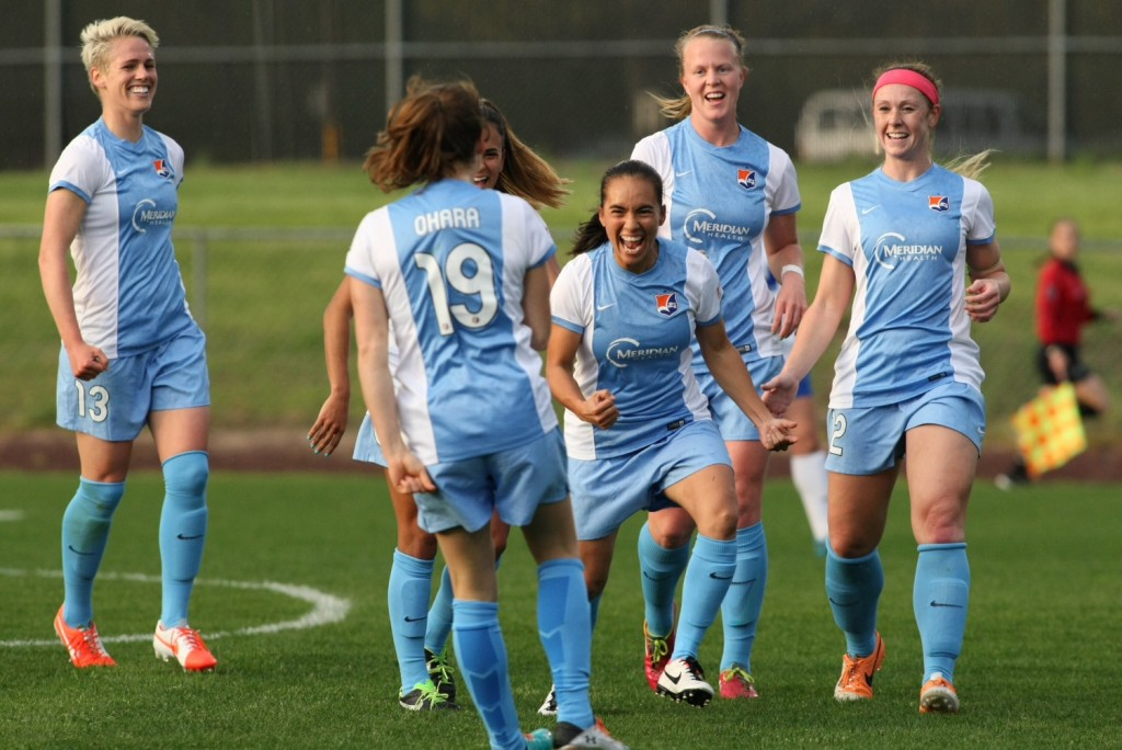 Kelley O'Hara and Monica Ocampo are two important players who will miss significant time for Sky Blue FC in 2015 due to the World Cup. (Photo Courtesy Roby McNeil/Sky Blue FC)