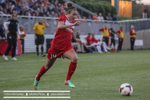 Jodie Taylor leads the Spirit in goals, something they'll need to beat the Thorns for the first time. (Photo Copyright Erica McCaulley for The Equalizer)