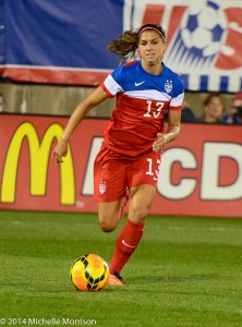 Alex Morgan is one of the world's most marketable athletes, according to SportsPro Magazine. (Photo Courtesy Michelle Morrison, The Soccer Desk)