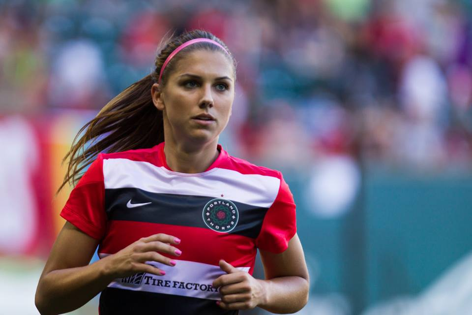 Alex Morgan could miss Saturday's match for the Thorns. (Photo Courtesy Portland Thorns FC/David Blair)