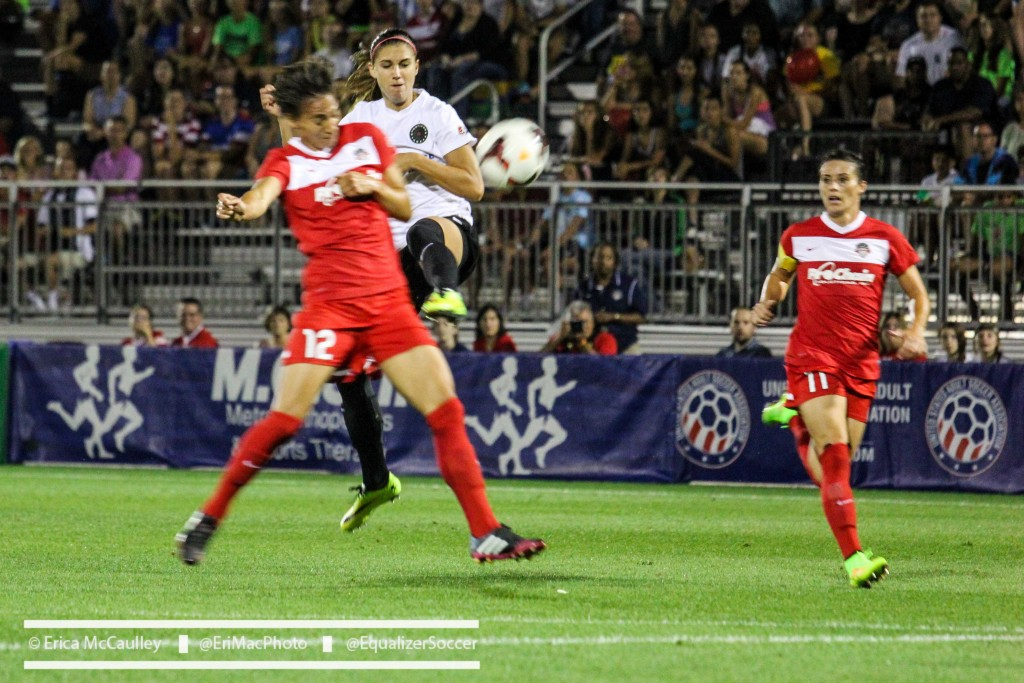 Alex Morgan scored early in Portland's 1-1 draw with Washington on Wednesday. (Photo Copyright Erica McCaulley for The Equalizer)