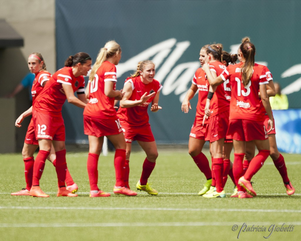 Portland Thorns FC players will hope to replicate last year's postseason magic in 2014. (Photo Copyright Patricia Giobetti for The Equalizer)