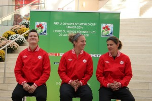 Erin McLeod and Christine Sinclair were part of Canada's 2002 U-19 World Championship runners-up squad. (Photo: Canada Soccer)