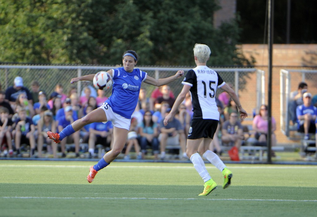 Megan Rapinoe scored the second-half equalizer for Seattle on Saturday vs. FC Kansas City. (Photo Courtesy FC Kansas City)