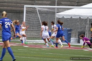 Kristie Mewis scored twice for the Breakers on Sunday in a loss to the Flash. (Photo Copyright Clark Linehan for The Equalizer)