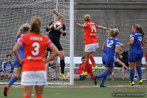 Alyssa Naeher's outstanding play this season has culminated in two shutouts in her final three matches. (Photo Copyright Clark Linehan for The Equalizer)