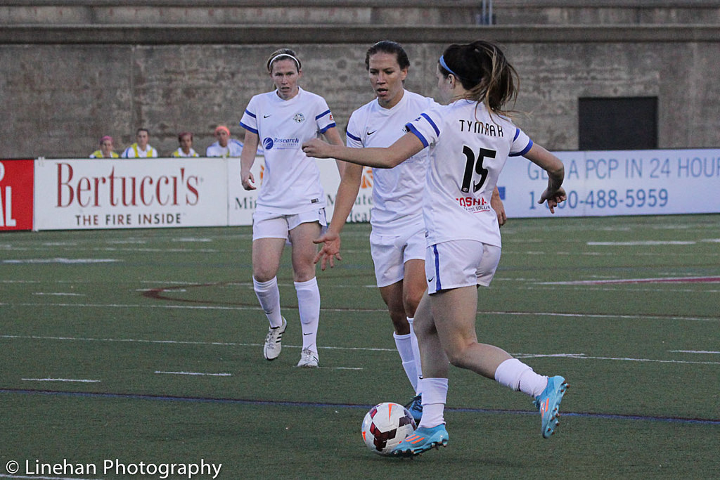 Lauren Holiday and Erika Tymrak are tasked with getting FC Kansas City past Portland Thorns FC Saturday and earning revenge on last season's loss. (Photo Copyright Clark Linehan for The Equalizer)
