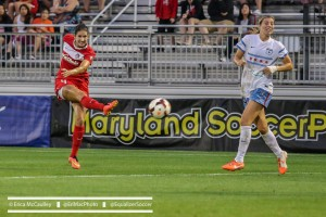 Yael Averbuch scored possibly the most important goal of her career on Saturday. (Photo Copyright Erica McCaulley for The Equalizer)