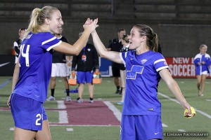 Rachel Wood and Heather O'Reilly scored to lift Boston to victory. (Photo Copyright Clark Linehan for The Equalizer)