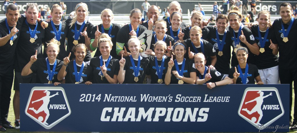 FC Kansas City celebrates its 2014 NWSL Championship. (Photo Copyright Patricia Giobetti for The Equalizer)