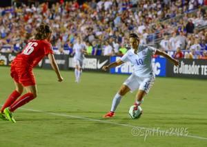 Carli Lloyd scored on Wednesday vs. Switzerland.(Photo Copyright Nicole Gamard for The Equalizer)