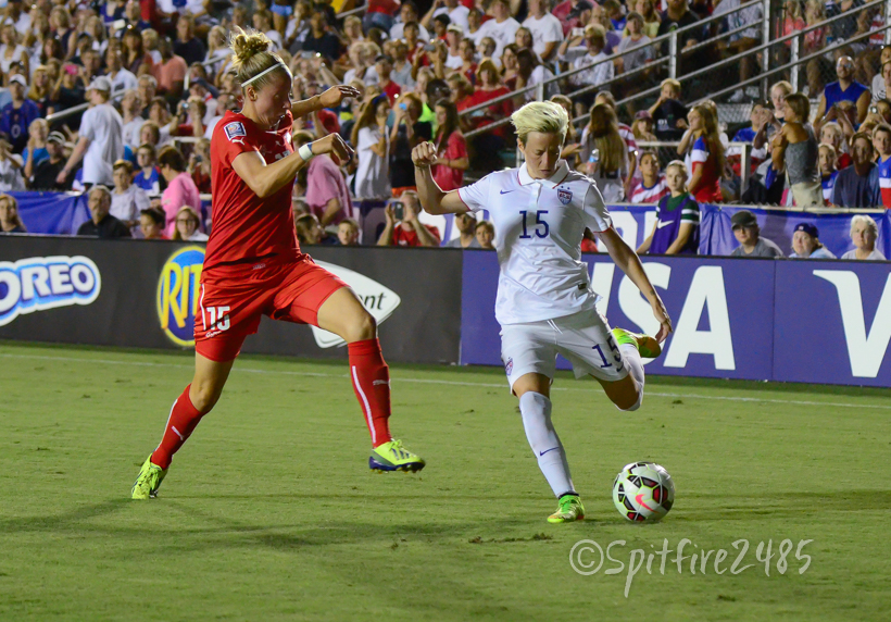 Megan Rapinoe scored in a 4-1 win for the USWNT over Switzerland on Wednesday. (Photo Copyright Nicole Gamard for The Equalizer)