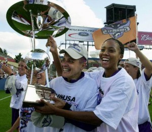 The Bay Area CyberRays won the 2001 Founder Cup in the most glamorous of women's soccer events.