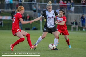 Kim Little scored from the spot vs. Washington to help send the Reign through to the final. (Photo Copyright Erica McCaulley for The Equalizer)