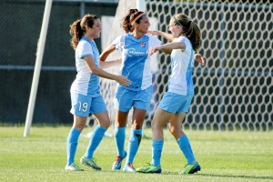 Nadia Nadim scored seven goals in six games on loan for Sky Blue FC in 2014. (Photo Courtesy Robyn McNeil)