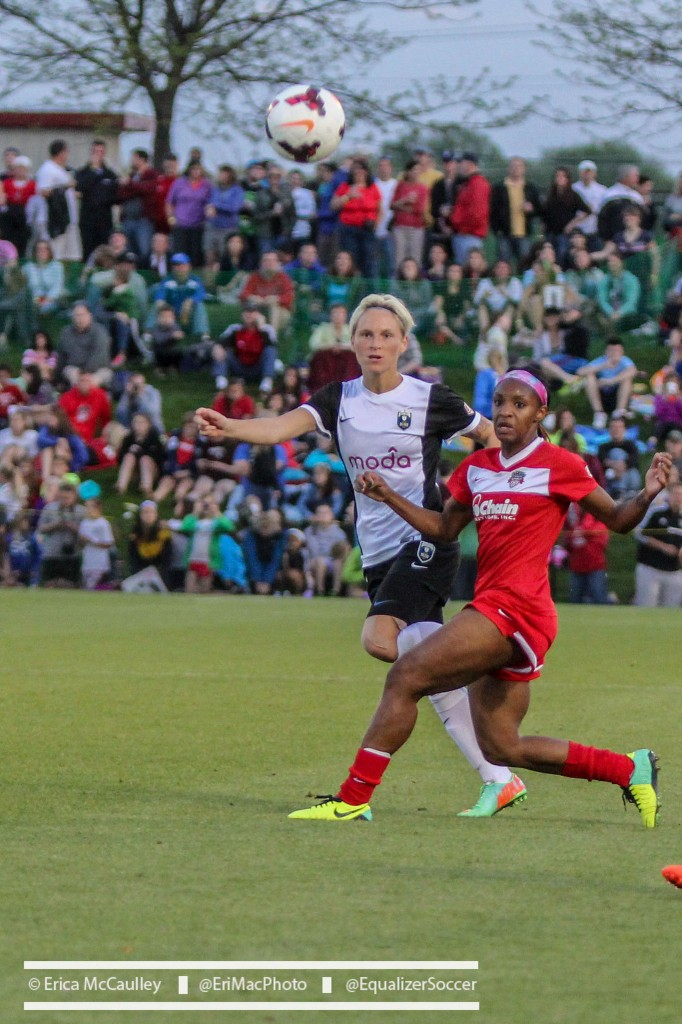 Jess Fishlock and Crystal Dunn are set to square off again in the NWSL semifinals on Sunday. (Photo Copyright Erica McCaulley for The Equalizer)