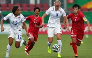 North Korea eliminated the United States in the quarterfinals of the 2014 U-20 Women's World Cup. (Getty Images)