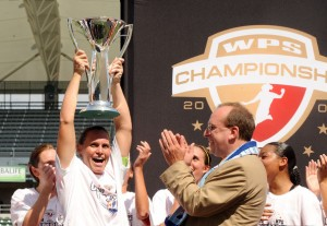 Christie Rampone and Sky Blue FC were the most unlikely of champions of the 2009 WPS season. (Zimbio photo)