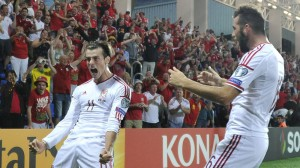 Gareth Bale (left) says Andorra's plastic pitch was the worst he ever played on. (Getty Images)