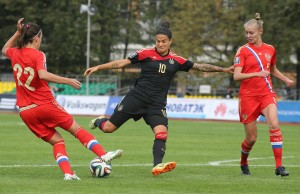 Dzsenifer Marozsan (center) and Germany are headed to the World Cup. (Getty Images)