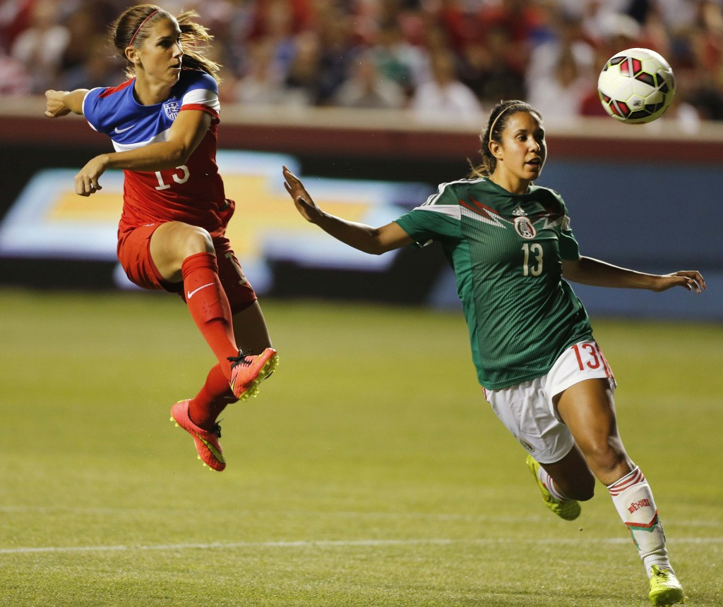 Alex Morgan has four goals in four games for the U.S. this year, including two against Mexico on Saturday. (Getty Images)