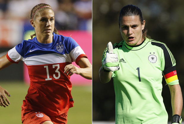 """Nadine Angerer recently said the USWNT lacks quality beyond their great fitness, and called 2014 Portland Thorns FC teammate Alex Morgan """"fragile."""" (Getty Images)"""