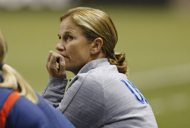 Jill Ellis must narrow her 28-player U.S. roster down to 20 for October's World Cup qualifying event. (Getty Images)