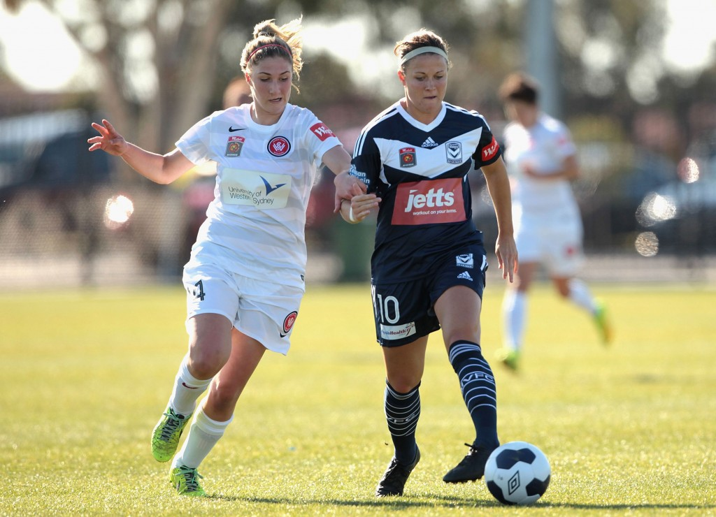 Christine Nairn (right) assisted all five of Melbourne's goals this week. (Getty Images)