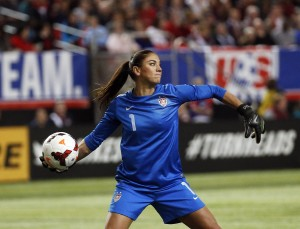 Hope Solo is back with the USWNT, who say they are unfazed by the media attention. (AP Photo)