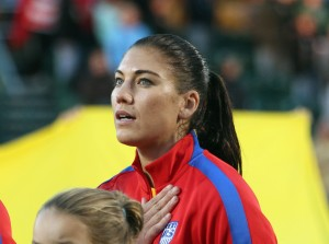 U.S. Soccer stands by its decision to let GK Hope Solo play on despite domestic abuse charges. (Getty Images)