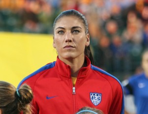 Hope Solo was charged on two counts of domestic violence in June. (Getty Images)