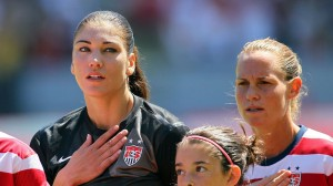 U.S. captain Christie Rampone says the team is supporting Hope Solo as the goalkeeper faces two charges of fourth-degree domestic-violence assault. (Getty Images)